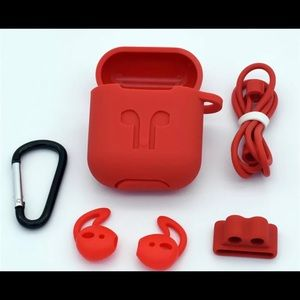 New protector cover set for AirPods 1&2 5 in 1 Red